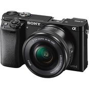 Sony Alpha a6000 24.3MP Mirrorless 16-50mm Camera with Interchangeable Lens