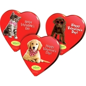 Russell Stover Assorted Chocolate Pet Fancy Heart Tin 9 oz.