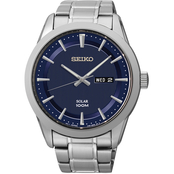 Seiko Men's 43mm Blue Dial Watch SNE361