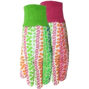 Midwest Gloves & Gear Women's Multi Print Garden Gloves with Gripping Dots 2 pk.