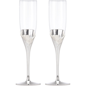 Lenox True Love Crystal 2 pc. Flute Set