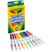Crayola Ultra Clean Markers, Fine Line, Classic Colors, 10 ct.
