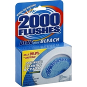 2000 Flushes Toilet Bowl Cleaner Automatic Blue Plus Bleach - 2 tablets 3.5 Oz.