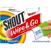 Shout Wipe and Go Instant Stain Remover Wipes 12 pk.