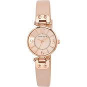 Anne Klein Women's Leather Strap Watch 26mm 10/9442RGLP