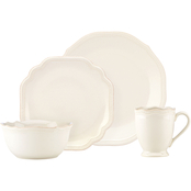 Lenox French Perle Bead White 4 pc. Place Setting