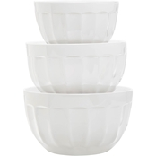 Martha Stewart Collection 3 pc. Fluted Melamine Bowl Set