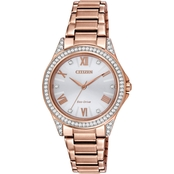Citizen Women's Eco-Drive POV Rose Goldtone Watch 30mm EM0233-51A