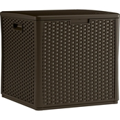 Suncast Wicker Storage Cube Deck Box