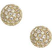 Fossil Pave Ball Stud