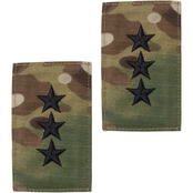 Army Lieutenant General Rank O-9 Tab Velcro (OCP)