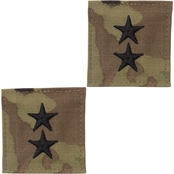 Army Major General Rank O-8 Tab Velcro (OCP)