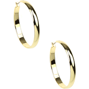 Napier Large Gold Hoop Earrings