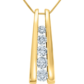 14K Yellow Gold 3/4 CTW Diamond Fashion Pendant