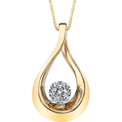 10K Yellow Gold 1/10 CTW Diamond Fashion Pendant