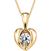 Sirena 14K Yellow Gold 1/16 CTW Diamond Heart Pendant