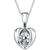 Sirena 14K White Gold 1/5 ct. TDW Diamond Heart Pendant