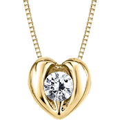 Sirena 14K Yellow Gold 1/8 CTW Diamond Heart Pendant