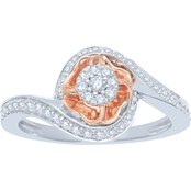 Love Blossoms 10K Two Tone Gold 1/3 CTW Diamond Ring
