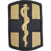 Army Unit Patch 1st Medical Brigade, Hook & Loop (OCP)