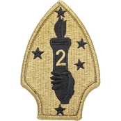 Patch 2nd Marine Division Subdued Velcro (OCP)