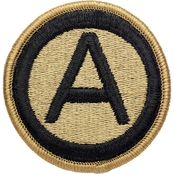 Army Patch 3rd Army Subdued Velcro (OCP)