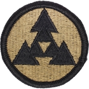 Army Patch Third Sustainment Command Subdued Velcro (OCP)