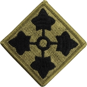 Army Patch Fourth Infantry Division Subdued Velcro (OCP)