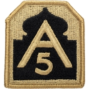 Army Patch Fifth Army Subdued Velcro (OCP)