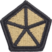 Army Patch V Corps Subdued Velcro (OCP)