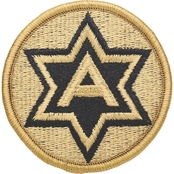 Army Patch Sixth Army Subdued Velcro (OCP)