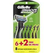 Gillette Mach3 Sensitive Men's Disposable Razor 8 Ct.