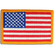 American Flag Patch Reversed 2 x 3 in. Sew-on