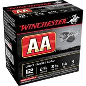 Winchester AA Target 12 Ga. 2.75 in. #9 2.75 Dram 1.125 oz. Shotshell, 25 Rounds
