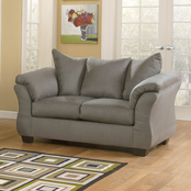 Signature Design by Ashley Darcy Loveseat, Cobblestone