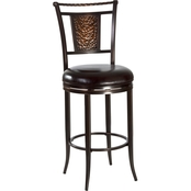 Hillsdale Parkside Swivel Stool, Copper
