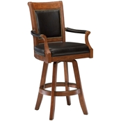 Hillsdale Kingston Leather Back Swivel Bar Stool