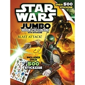 Star Wars Giant Sticker Book to Color