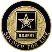Army Lapel Button, Soldier For Life