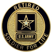 Retired Army Lapel Button, Soldier For Life