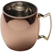 Mikasa Moscow Mule Shiny Copper Barrel Mug with Brass Handle