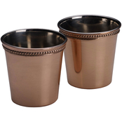 Mikasa Shiny Copper 2 pc. Shot Glass Set