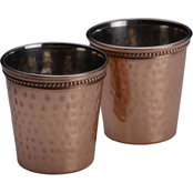 Mikasa Hammered Copper 2 pc. Shot Glass Set