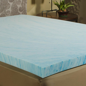 Independent Sleep 2 in. King Gel Memory Foam Topper