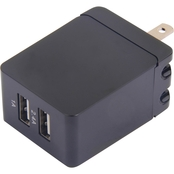 Powerzone 3.4A Dual USB Wall charger, Black