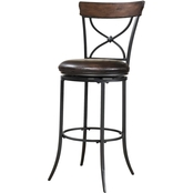 Hillsdale Cameron Swivel X-Back Stool