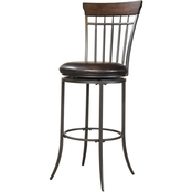 Hillsdale Cameron Swivel Vertical Spindle Stool