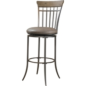 Hillsdale Charleston Swivel Vertical Spindle Stool