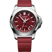 Victorinox Swiss Army Men's INOX Stainless Steel 43mm Watch with  Rubber Strap