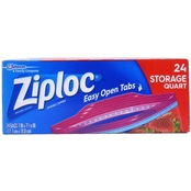 Ziploc Quart Double Zipper Storage Bags 24 Pk.